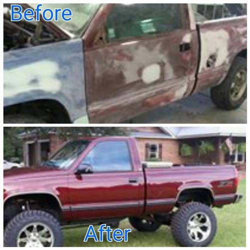 restoration on chevy truck