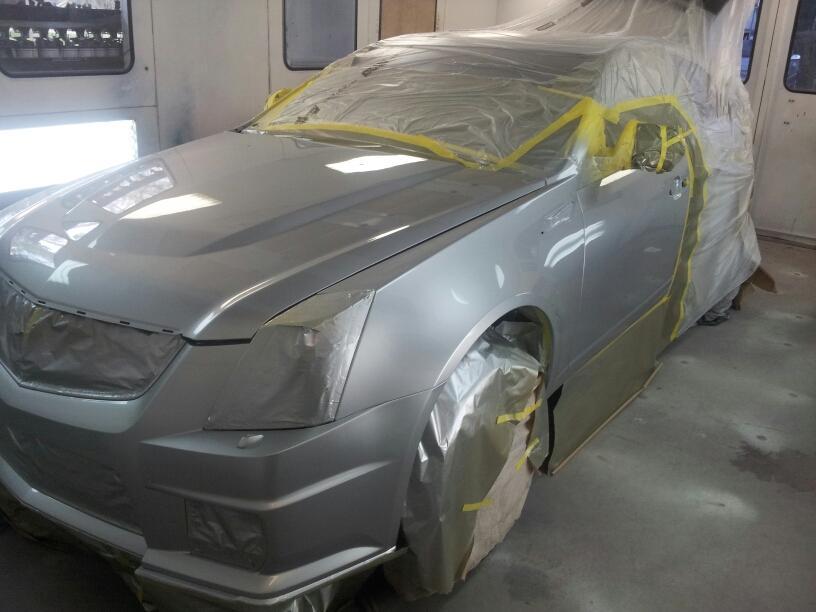 collision work on car