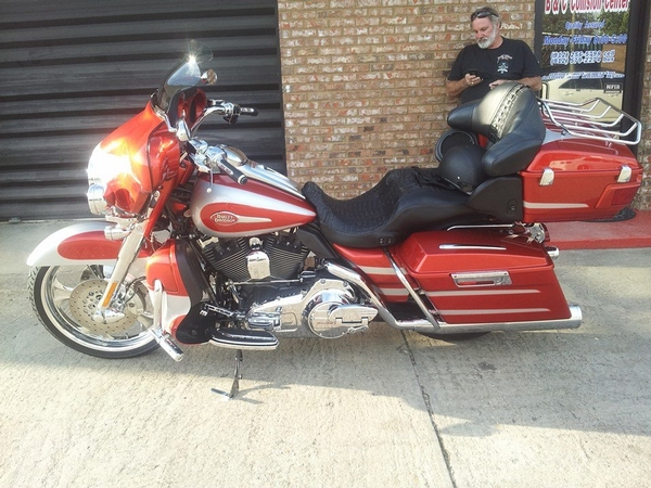 motorcycle outside of shop